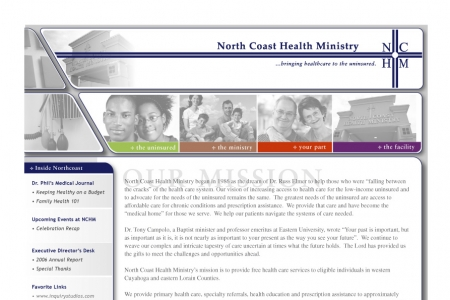 Website for North Coast Health Ministry