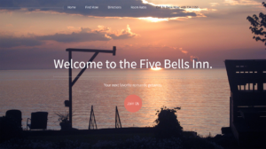 Website for The Five Bells Inn Bed and Breakfast