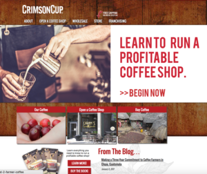 Crimson Cup Coffee Website
