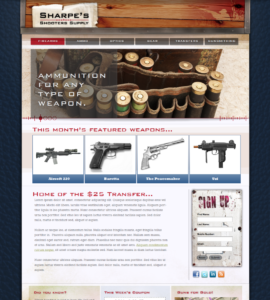 Sharpe's Shooters Supply Website