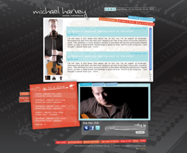 Website for Michael Harvey: Singer, Songwriter