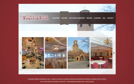 Columbus Greek Cathedral - Microsite for Events & Banquet Services