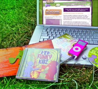 Funky Kidz Music: CD Artwork, Branding, Website, and Promotional Materials